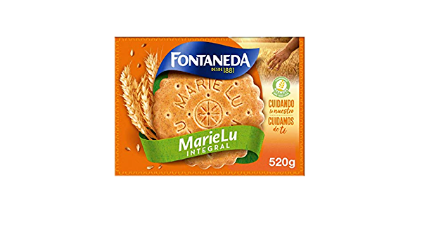 Fontaneda Marie Lu - Galletas Integrales con Fibra y Cereales - Formato Familiar en Caja de 520 g: Amazon.es: Alimentación y bebidas