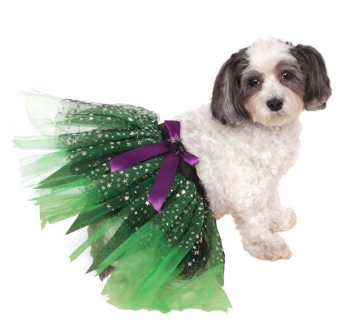 Rubie's Witch Tutu with Stars Pet Costume, Small/Medium (Easy Witch Costume)