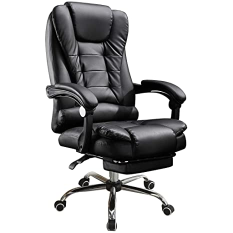 Surprising Gxok Office Chair Leather Desk Gaming Chair With Adjust Seat Height Chair Desk Seat Ship From Usa Directly Pabps2019 Chair Design Images Pabps2019Com