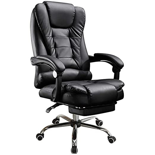 Amazon.com: Large Size High-Back Ergonomic Gaming Chair,Top Gamer Racing Seat with Massager Lumbar Support and Retractible with Footrest,Office Chair ...