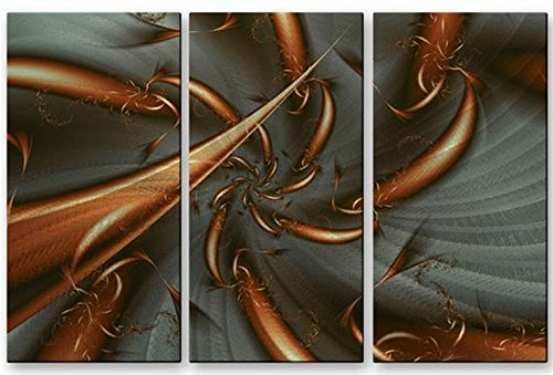 Metal Artwork Abstract Modern  Hand Made Wall  Copper