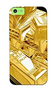 Defender Case With Nice Appearance (gold Bullion Money ) For Iphone 5c / Gift For New Year's Day