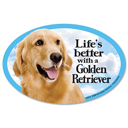 Prismatix Decal Cat and Dog Magnets Golden Retriever