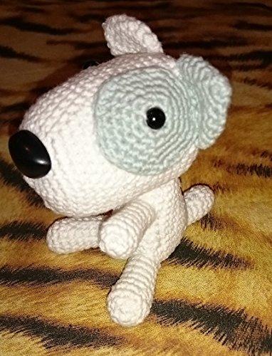 Perro pirata Amigurumi 12 cm. 100% algodón: Amazon.es: Handmade