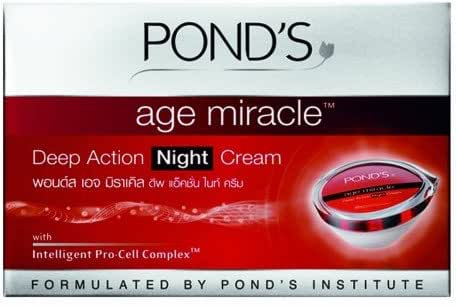 Night Cream : Pond's Age Miracle Cell Regen Deep Action Night Cream Anti Aging Wrinkle Net wt. 50 ml.