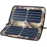 ECEEN 10W Foldable Portable Solar Panel Charger for Battery Pack IOS Iphone Ipad Android Smart Cell Phone GoPros or Other 5V USB-Charged Devices - Camouflage