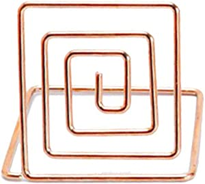 SUJING 20 Pieces Wire Place Card Holder Metal Card Holder Stand Wedding Name Place Holder for Weddings, Dinner Parties, Food Signs,Rose Gold/Gold/Silver (Silver) (Rose Gold)
