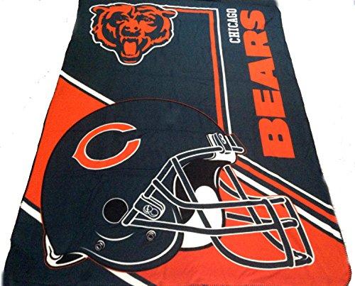 Chicago Bears Blanket Throw 90x66 Lightweight Fleece NFL Bedding (Soft Chicago Blanket Northwest Bears)
