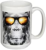 3dRose BigFoot/Sasquatch Wearing Sunglasses, Ceramic Mug, 15-Oz