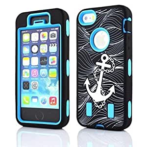 Buy 2 in 1 Anchor Robot Style PC and Sillcone Composite Case for iPhone 5/5S(Assorted Colors) , Orange