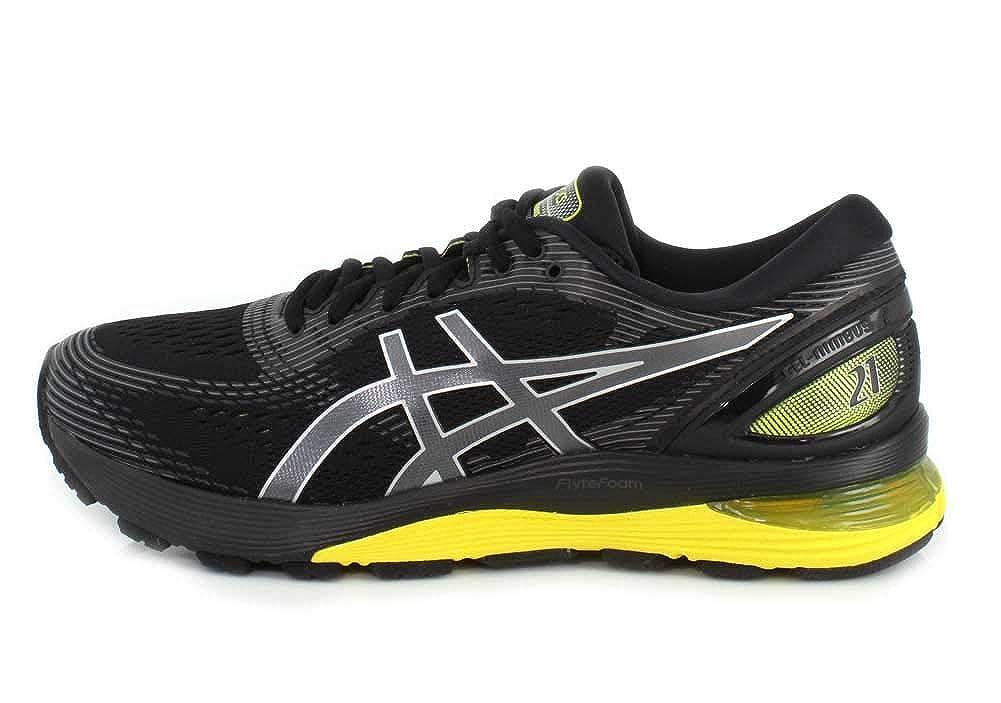 brand new 815b8 319f1 ASICS - Chaussures Gel-Nimbus 21 pour Hommes, 42 EU, Black Neon Spark   Amazon.fr  Chaussures et Sacs