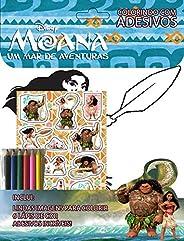 Moana - Um mar de Aventuras: Colorindo com Adesivos