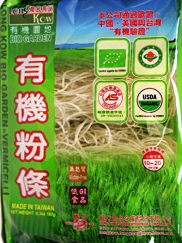 Crystal Noodle ((龙口粉丝) Long Kow Bio Garden Organic Broad Been Threads Crystal Noodle -Vermicelli 6.3 oz (pack of 2))