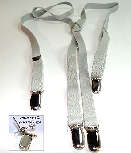 Urban Youth 1/2'' Hold-Up Suspender in X-back with No-slip Clips (Grey) by Hold-Up Suspender Co. (Image #8)