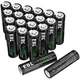EBL AA Rechargeable Batteries, 1.2V 1100mAh (20 Pack) NiCd Battery for Solar Lights, Garden Lights, Landscape Lights, Solar Pathway Lights, Remotes, Mice