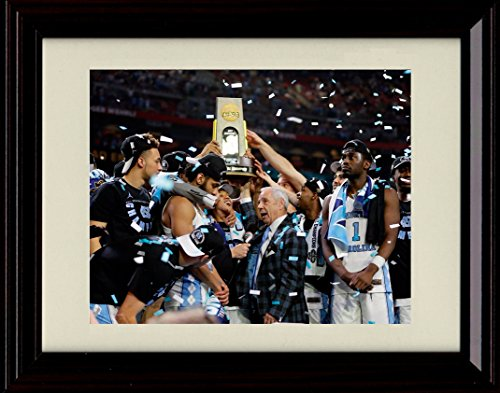 (Framed 2017 Championship Trophy - North Carolina Tar Heels Win!)