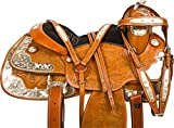 TEXAS STAR WESTERN PLEASURE HAND CARVED LEATHER QU...