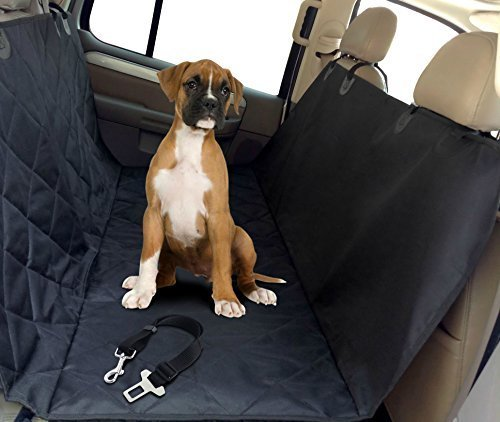 My Pet Boutique Pet Seat Cover Hammock with Dog Seat Belt