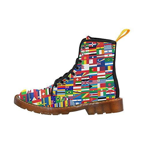 D-story Chaussures Monde Pays Drapeaux Lacent Bottes De Martin Pour Les Femmes