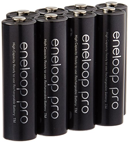 Eneloop Pro AA High Capacity Ni-MH 2550mAh (Min. 2450mAh) Pre-Charged Rechargeable Battery with Holder Pack of 8 ()