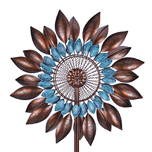 Win Wind Spinner-Outdoor Metal Kinetic Garden Wind Spinners - Decorative Lawn Ornament Wind Mills - Unique Outdoor Lawn and Garden Décor (Spinners Garden For Kinetic The)