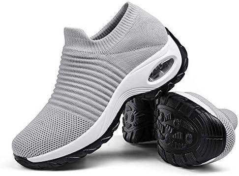 Women Walking Shoes Sock Sneakers  Mesh Slip On Air Cushion Lady Girls Modern Jazz Dance Easy Shoes