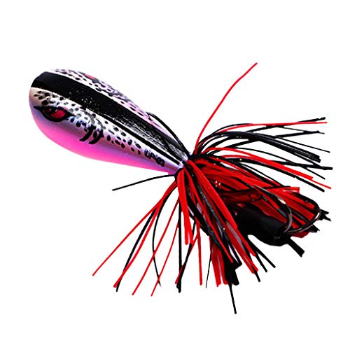 certainPL Jump Action Fishing Lures Topwater Baits, Life-Like Frog Bait with Double Strong Hook for Bass Walleye Trout