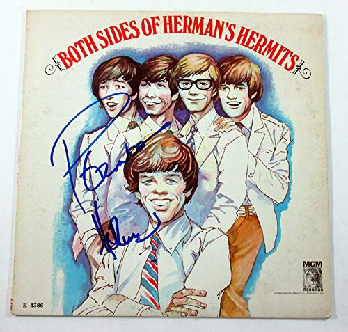 Peter Noone Signed LP Record Album Both Sides of Herman's Hermits AUTO DF018286