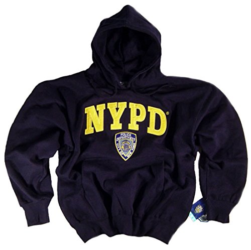 nypd hoodie embroidered sweat shirt officially licensed
