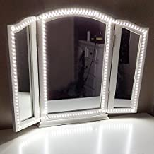 Led Vanity Mirror Lights Kit,ViLSOM 13ft/4M 240 LEDs Make-up Vanity Mirror Light for Vanity Makeup Table Set with Dimmer and Power Supply,Mirror not Included.