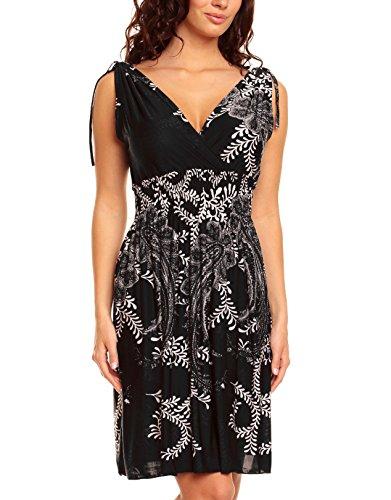 Damen-Kleid, Blumen / Weinreben, Sommerkleid, kurz
