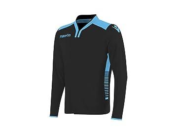 ATELIER DEL RICAMO Camiseta Portero Fútbol Manga Larga Macron Antares, Hombre, Nero/Azzurro