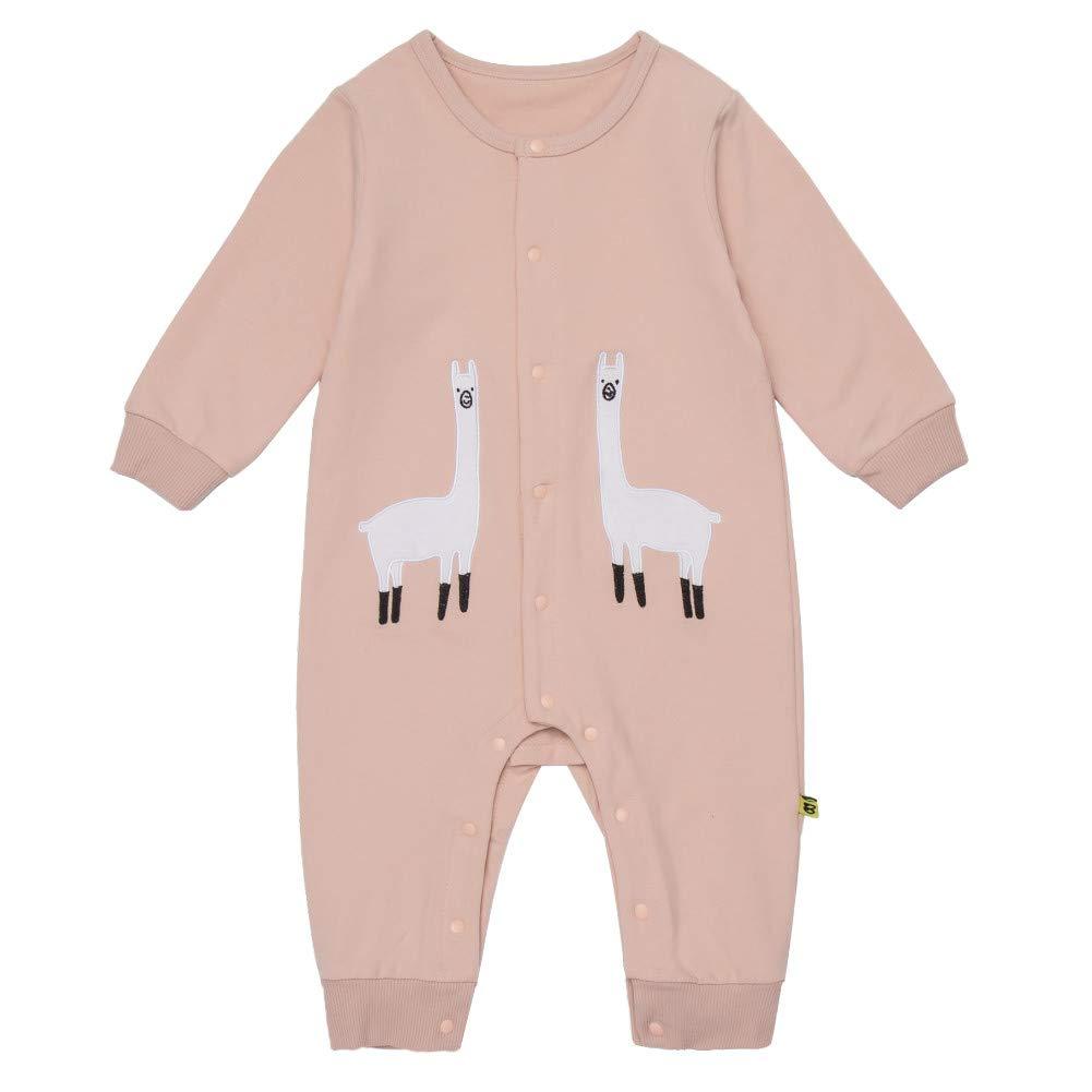 Teeker Unisex Baby Onesies Cotton Bodysuit Long Seleeve Alpaca Print Baby Outfit by Teeker (Image #1)
