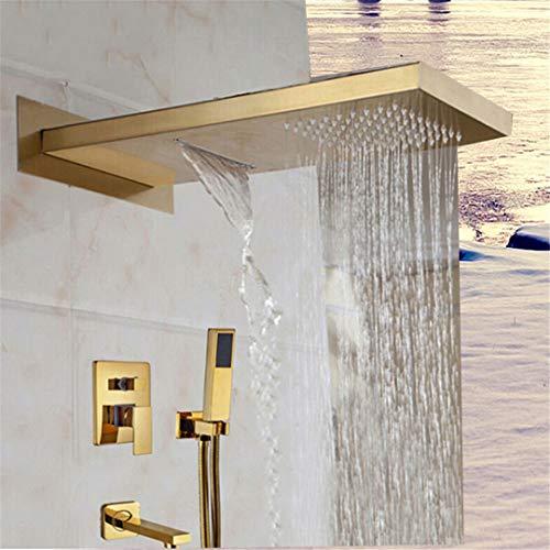 Bestyunyu Bathroom Shower Faucet Wall Mounted Rain Shower Faucet Four Wwys Valve Tub Spout Shower er Set