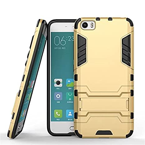 check out 45105 aca6c Parallel Universe Xiaomi Mi5 Back Cover Case Ironman Backcover with Stand -  Gold