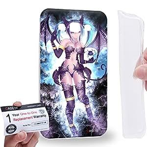 Case88 [Samsung Galaxy E7] Gel TPU Carcasa/Funda & Tarjeta de garantía - Vocaloid Miki Hatsune Miku 0962