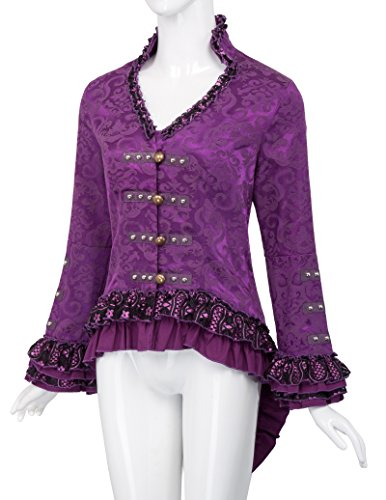 y Victorian 3 Belle Poque encajes Gothik con lazos Tailcoat Jacket Bp223 Señoras Uw8PEqwx