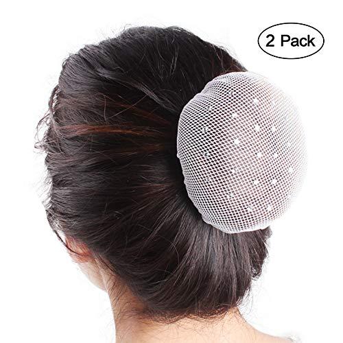 Studded Net - Hair Nets - Women Girl Elastic Diamond-studded Hair Snood Net Ballet Dance Skating Bun Hair Covers Ornament