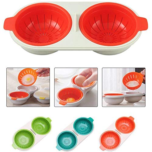GOBEAUTY Microwave Egg Poacher,Easy Cooking Tool Microwave C