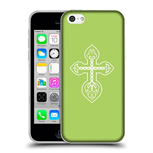 GoGoMobile Coque de Protection TPU Silicone Case pour // Q09220628 Croix chrétienne 32 poule // Apple iPhone 5C