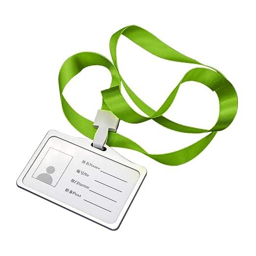 Hylotele ID Carte Porta Badge con Cordoncino Horizontal ...