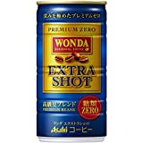ASAHI WONDA coffee EXTRA SHOT (no suger) 185g (30 cans)