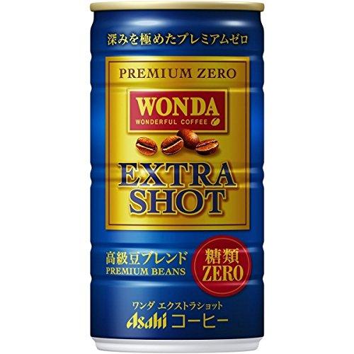 ASAHI WONDA coffee EXTRA SHOT (no suger) 185g (30 cans) by Asahi