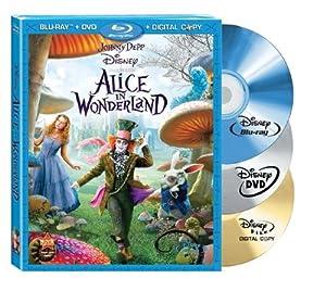 Cover Image for 'Alice in Wonderland - 3-Disc BD Combo Pack (BD+DVD+Digital Copy)'