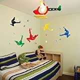 Boodecal Soccer Player Silhouette Wall Stickers Peel Stick Removeable Football Sport Wall Decals Nursery Decor Boys Bedroom
