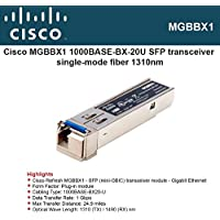 CISCO 1000Base-BX-20U SFP (mini-GBIC) Transceiver / MGBBX1 /