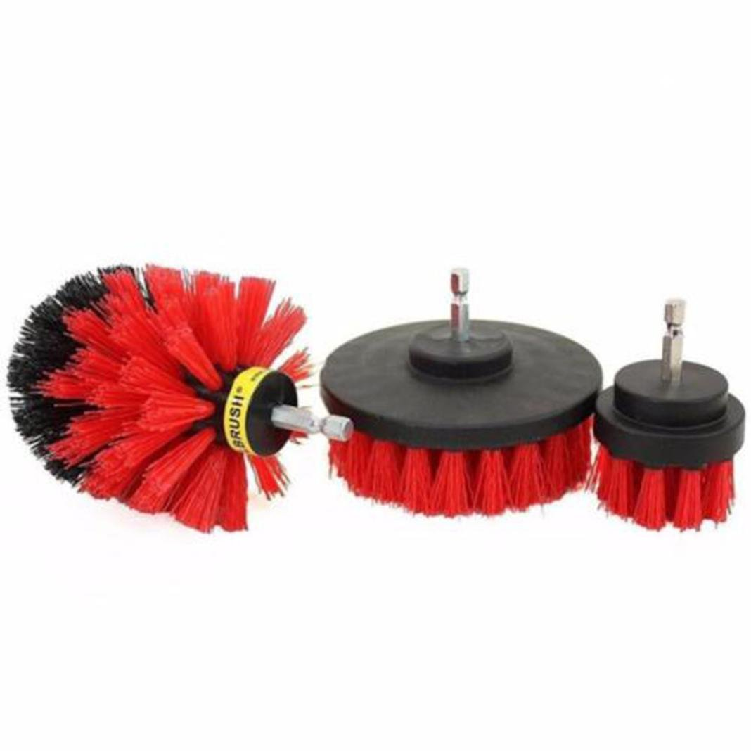 YUYOUG 3Pcs /Set Grout Power Scrubber Cleaning Drill Brush Tub Cleaner Combo Tool Kit - Drill Powered Cleaning Brush Attachments - Great for Cleaning Pool Tile, Flooring, Brick, Ceramic, Marble, and Grout ZCW_80714883