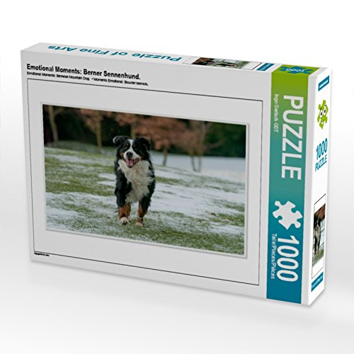 Emotional Moments: Berner Sennenhund. 1000 Teile Puzzle quer