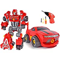 CoolToys Custom 3 in 1 Take-A-Part Robot Toy Playset - Includes Electric Play Drill, Screwdriver and 42 Modification Pieces
