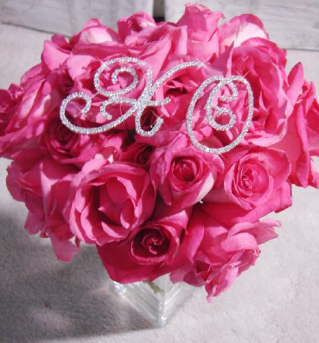 Hugs And Kisses Bouquet (Hugs & Kisses Crystal Rhinestone Bridal Bouquet Jewelry XO Letters for Wedding Accent)